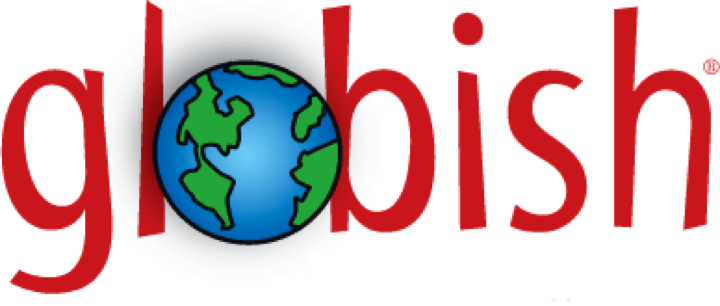 Logo Globish, the world with an image of the earth